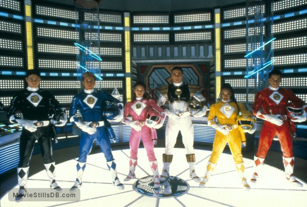 Mighty Morphin Power Rangers: The Movie - Publicity still of Johnny Yong Bosch, David Yost, Amy Jo Johnson, Jason David Frank, Karan Ashley & Steve Cardenas