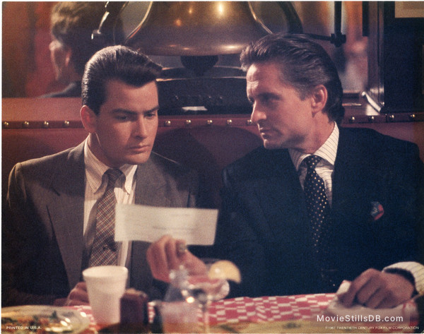 Wall Street - Lobby card with Charlie Sheen & Michael Douglas