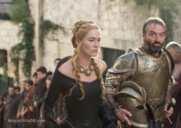 Game of Thrones - Publicity still of Ian Beattie & Lena Headey