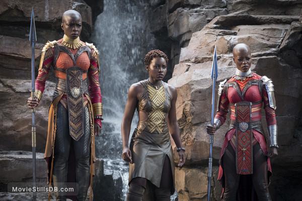 Black Panther - Publicity still of Florence Kasumba, Danai Gurira & Lupita Nyong'o