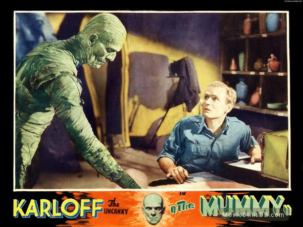 The Mummy - Lobby card with Boris Karloff & Bramwell Fletcher