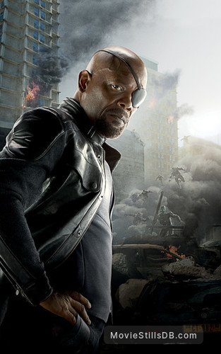 The Avengers: Age of Ultron - Promotional art with Samuel L. Jackson