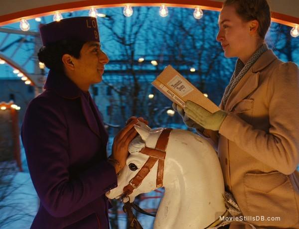 The Grand Budapest Hotel - Publicity still of Saoirse Ronan & Milton Welsh
