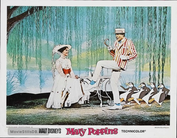 Mary Poppins - Lobby card with Julie Andrews & Dick Van Dyke
