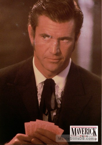 Maverick Lobby Card With Mel Gibson