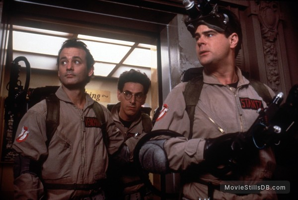 Ghost Busters - Publicity still of Dan Aykroyd, Bill Murray & Harold Ramis