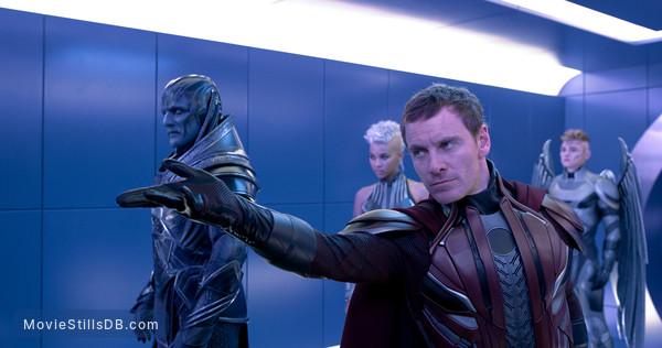X-Men: Apocalypse - Publicity still of Michael Fassbender, Oscar Isaac, Alexandra Shipp & Ben Hardy