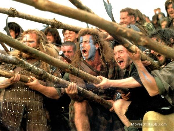 Braveheart - Publicity still of Mel Gibson & Brendan Gleeson