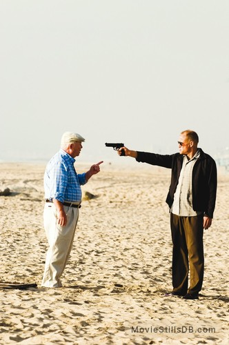 Rampart - Publicity still of Woody Harrelson & Ned Beatty