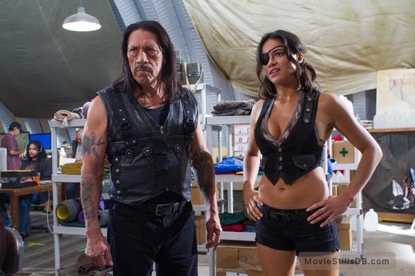 Machete Kills - Publicity still of Michelle Rodriguez & Danny Trejo
