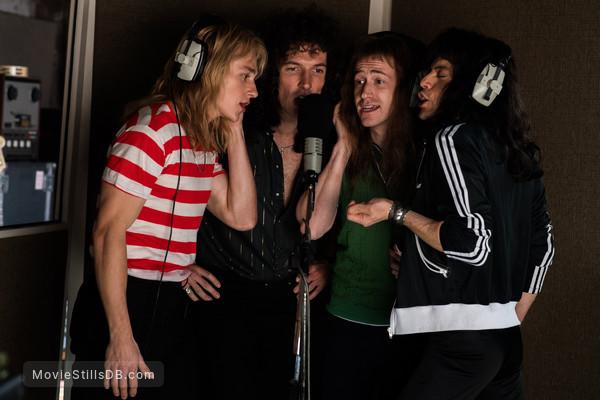Bohemian Rhapsody - Publicity still of Rami Malek, Ben Hardy, Gwilym Lee & Joe Mazzello