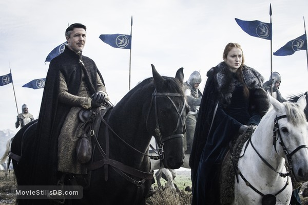 Game of Thrones - Publicity still of Sophie Turner & Aidan Gillen