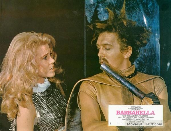 Barbarella - Lobby card with Jane Fonda & David Hemmings