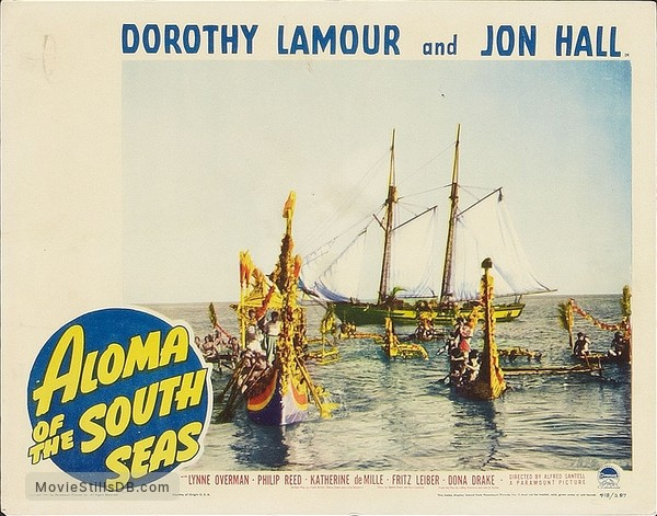 Aloma of the South Seas - Lobby card