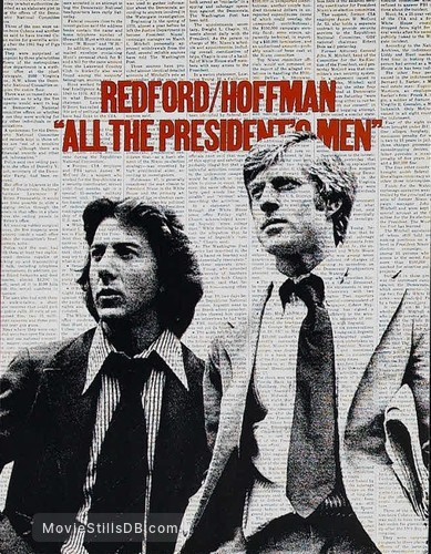 All the President's Men - Lobby card with Robert Redford & Dustin Hoffman