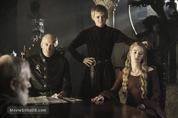 Game of Thrones - Publicity still of Jack Gleeson, Lena Headey & Charles Dance
