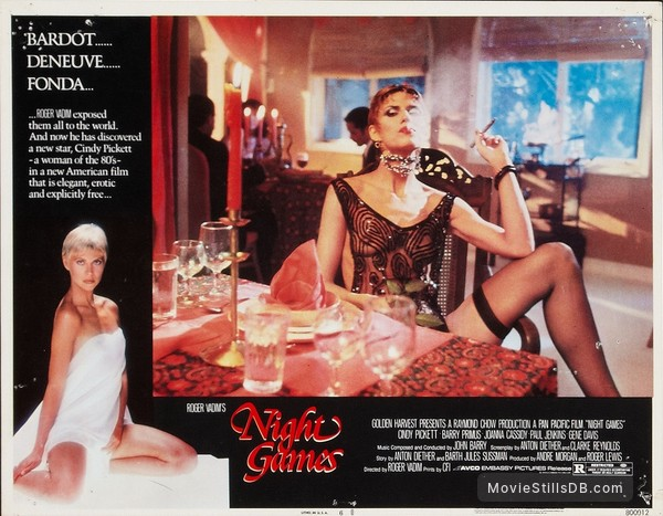 Night Games - Lobby card with Cindy Pickett