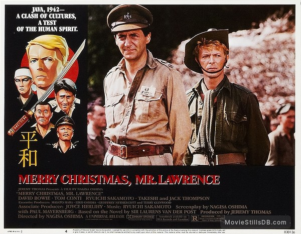 Merry Christmas Mr Lawrence.Merry Christmas Mr Lawrence Lobby Card With David Bowie