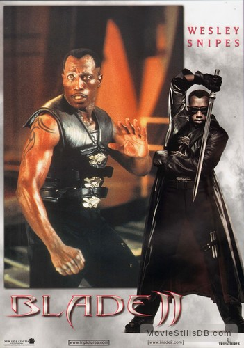 Blade 2 Lobby Card With Wesley Snipes