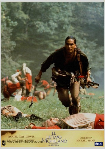 The Last Of The Mohicans Lobby Card With Eric Schweig 1919 oil painting (detail) by n.c. mohicans lobby card with eric schweig