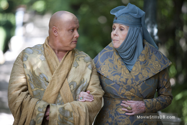 Game of Thrones - Publicity still of Conleth Hill & Diana Rigg