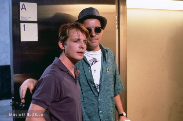 The Secret of My Succe$s - Publicity still of Michael J. Fox & John Pankow