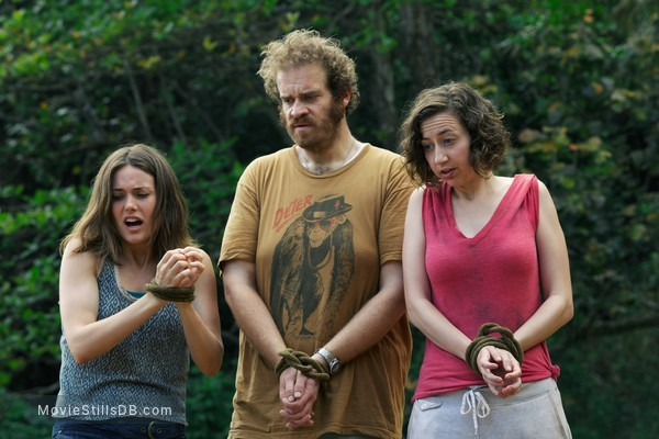 Welcome to the Jungle - Publicity still of Kristen Schaal, Eric Edelstein & Megan Boone