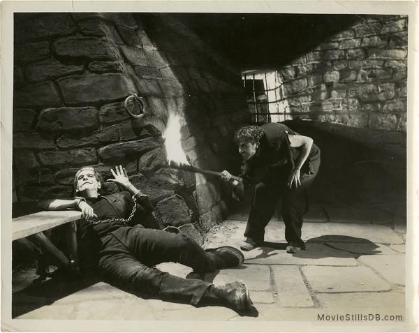Frankenstein - Publicity still of Boris Karloff & Dwight Frye