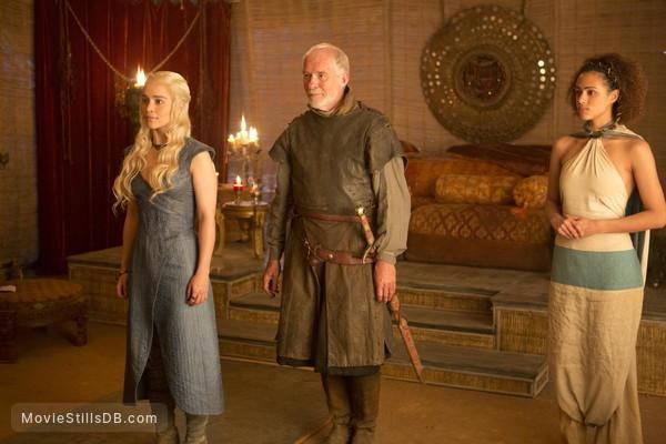 Game of Thrones - Publicity still of Emilia Clarke, Nathalie Emmanuel & Ian McElhinney