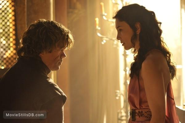 Game of Thrones - Publicity still of Peter Dinklage & Sibel Kekilli