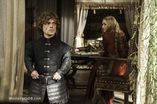 Game of Thrones - Publicity still of Peter Dinklage & Lena Headey