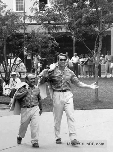 Twins Publicity Still Of Danny Devito Arnold Schwarzenegger
