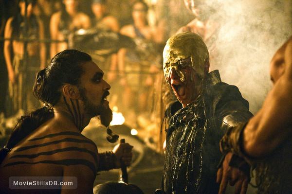 Game of Thrones - Publicity still of Jason Momoa & Harry Lloyd