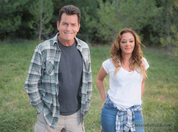 Mad Families - Publicity still of Leah Remini & Charlie Sheen