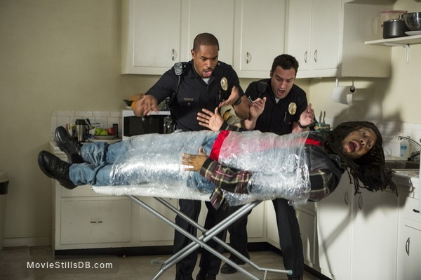 Let's Be Cops - Publicity still of Damon Wayans Jr., Jake Johnson & Keegan-Michael Key
