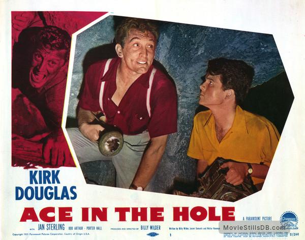 Ace in the Hole - Lobby card with Kirk Douglas & Robert Arthur