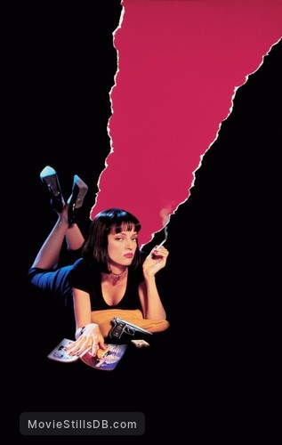 Pulp Fiction - Promotional art with Uma Thurman