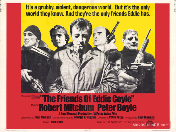 The Friends of Eddie Coyle - Lobby card with Robert Mitchum, Peter Boyle & Richard Jordan