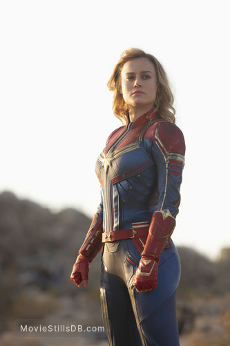 Captain Marvel - Publicity still of Brie Larson