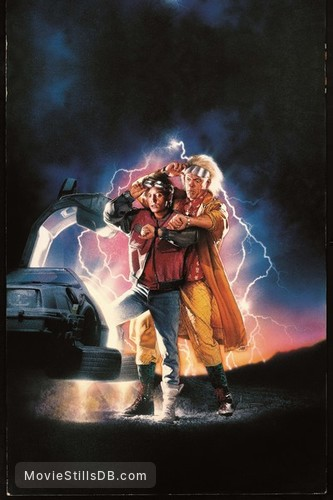 Back to the Future Part III - Promotional art with Michael J  Fox