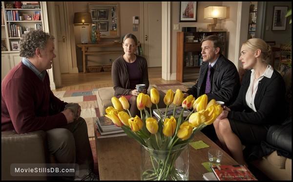 Carnage - Publicity still of John C. Reilly, Jodie Foster, Christoph Waltz & Kate Winslet