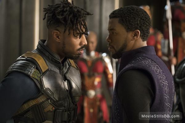 Black Panther - Publicity still of Michael B. Jordan & Chadwick Boseman