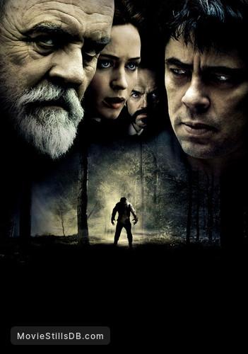 The Wolfman - Promotional art with Benicio del Toro, Anthony Hopkins, Emily Blunt & Hugo Weaving