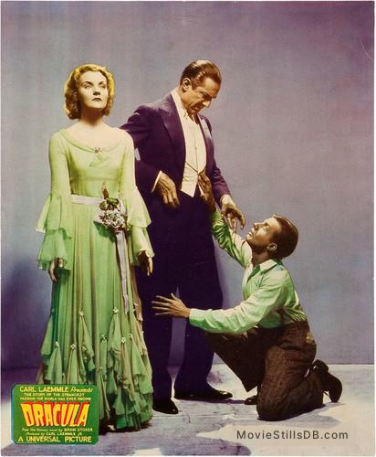 Dracula - Lobby card with Helen Chandler, Bela Lugosi & Dwight Frye