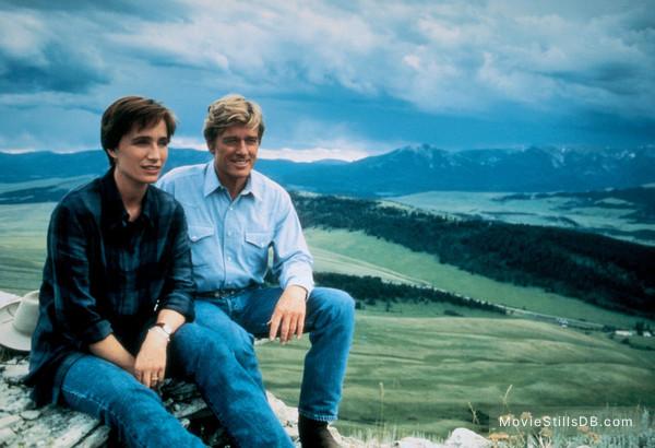 The Horse Whisperer - Publicity still of Kristin Scott Thomas & Robert Redford