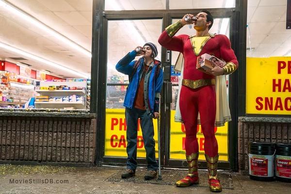 Shazam! - Publicity still of Zachary Levi & Jack Grazer