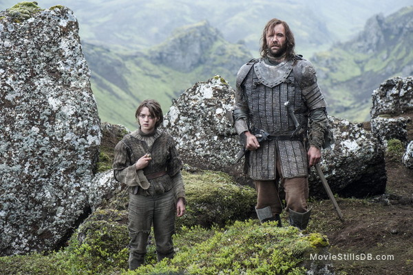 Game of Thrones - Publicity still of Maisie Williams & Rory McCann