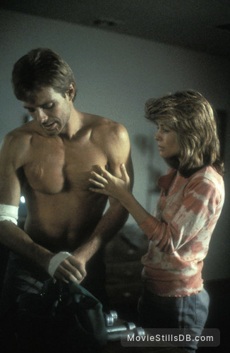 The Terminator - Publicity still of Michael Biehn & Linda Hamilton