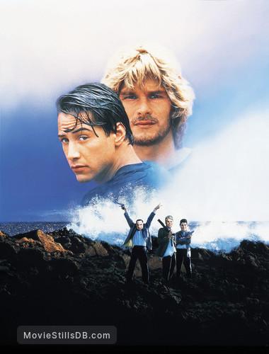 Point Break - Promotional art with Keanu Reeves & Patrick Swayze