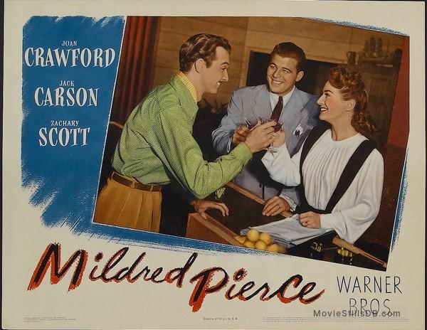 Mildred Pierce - Lobby card with Zachary Scott, Jack Carson & Joan Crawford